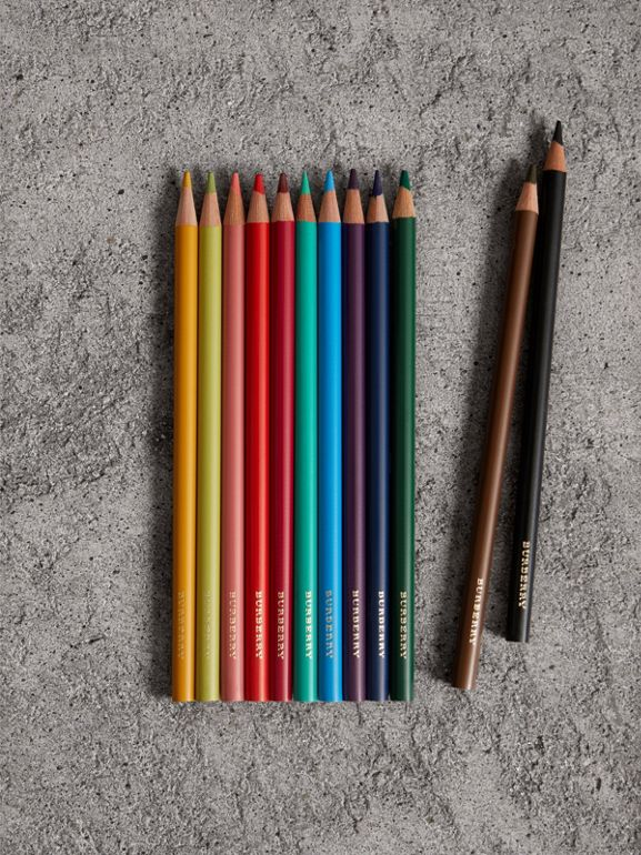 Set of Coloured Pencils in Multicolour | Burberry United Kingdom - cell image 1