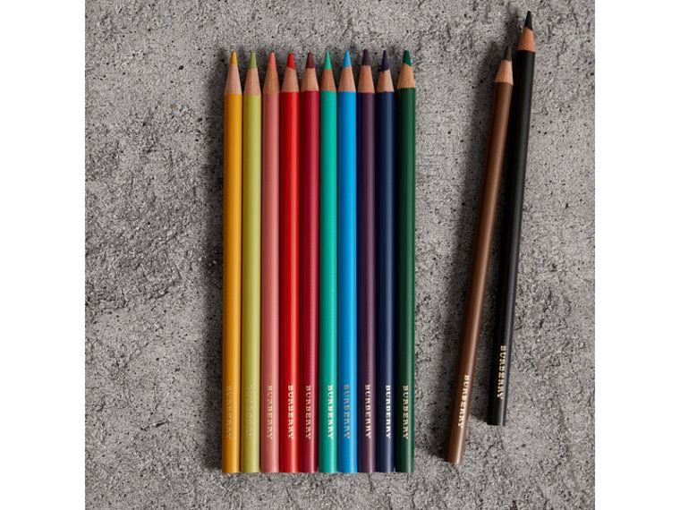 Set of Coloured Pencils in Multicolour | Burberry Canada - cell image 1