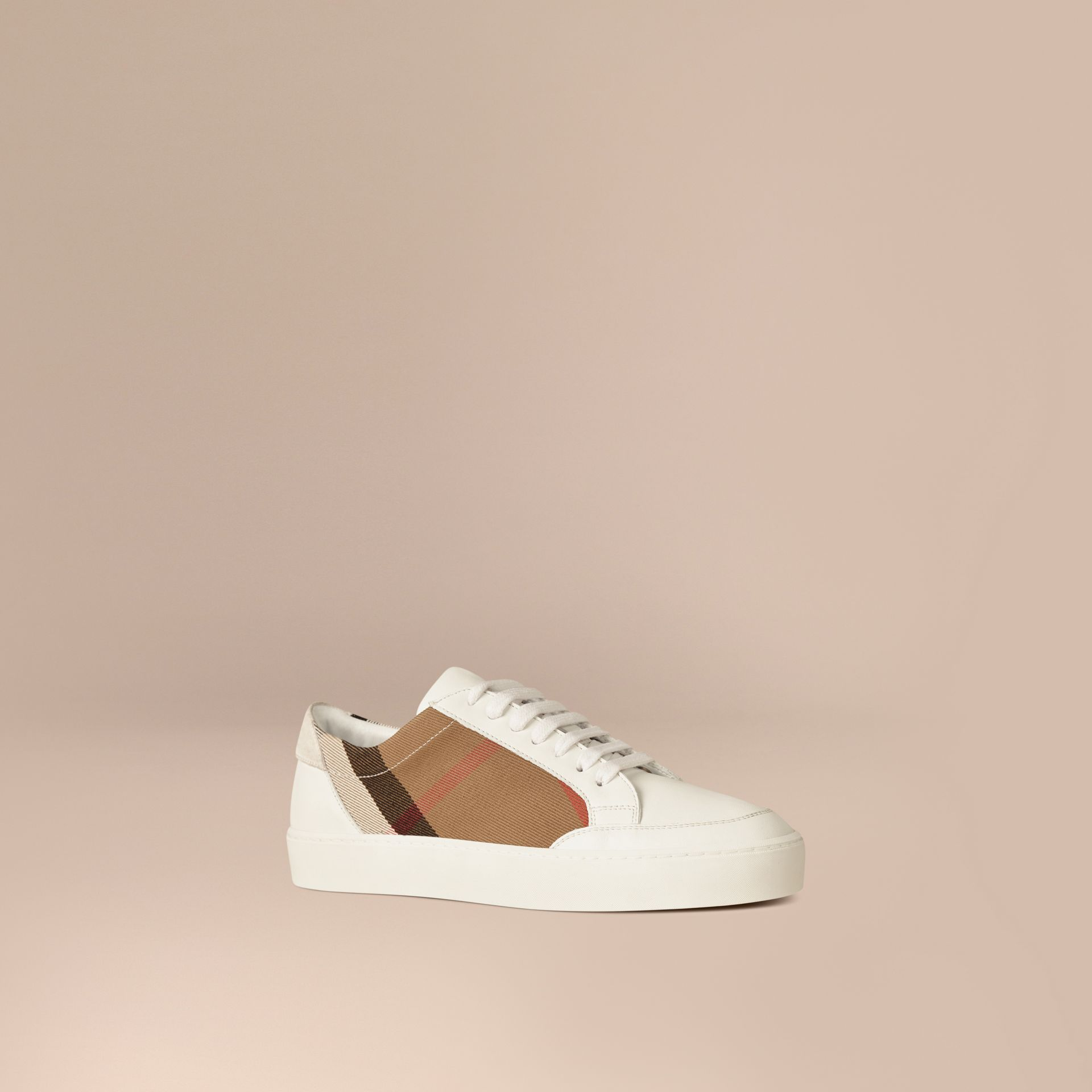 House check/optic white House Check and Leather Sneakers Check/optic White - gallery image 1
