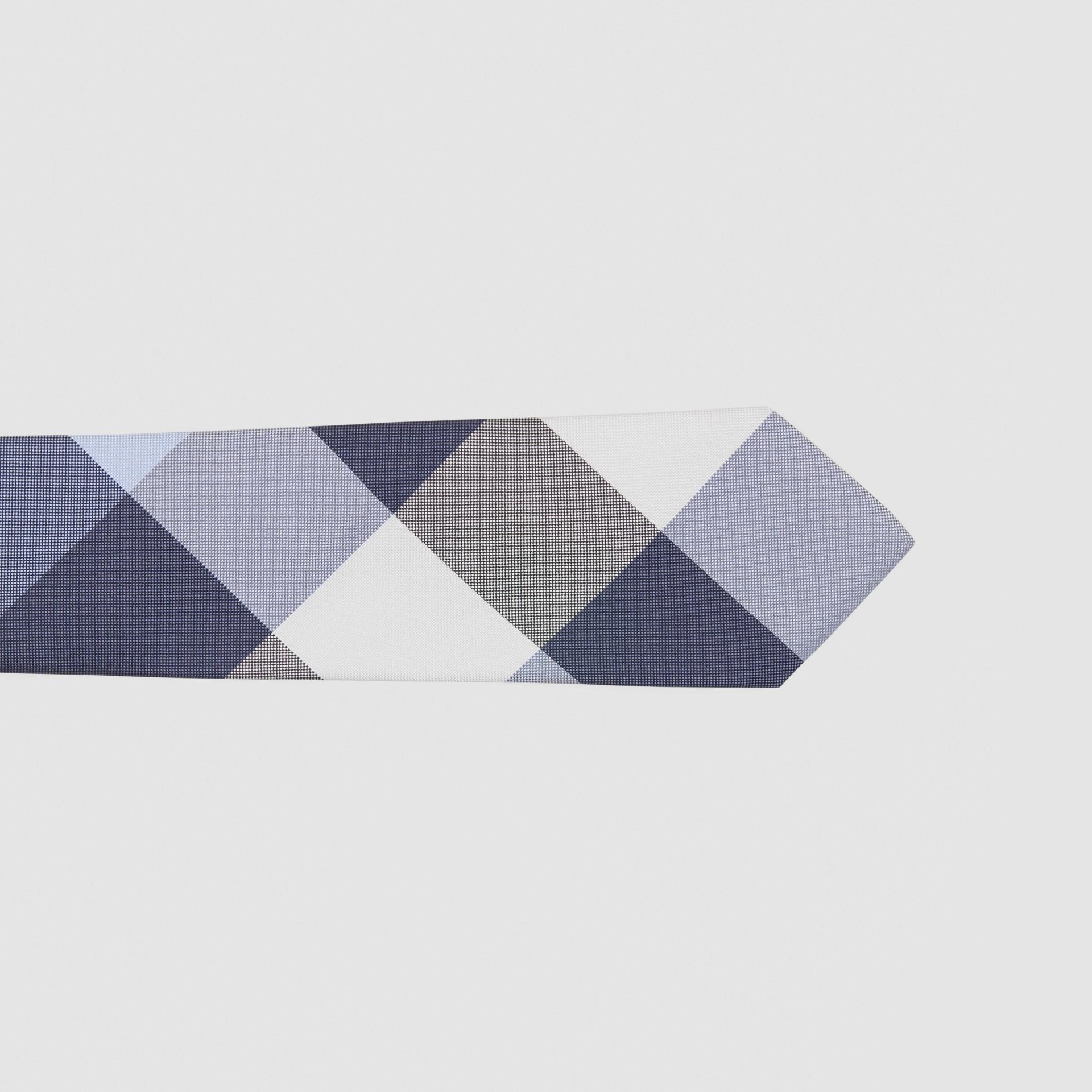 Classic Cut Check Silk Jacquard Tie in Porcelain Blue - Men | Burberry Australia - gallery image 1