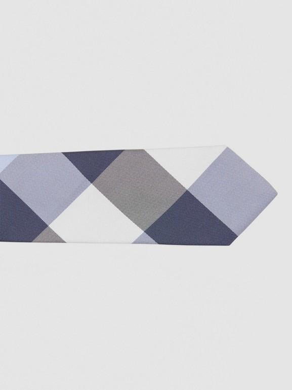 Classic Cut Check Silk Jacquard Tie in Porcelain Blue - Men | Burberry Australia - cell image 1