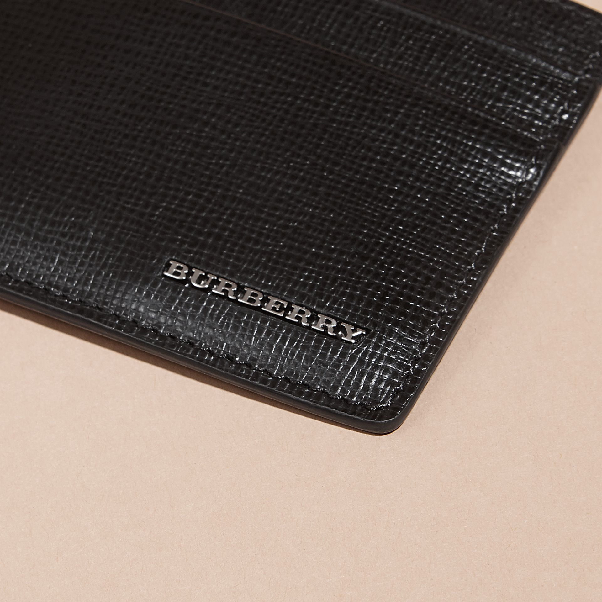 Black London Leather Card Case Black - gallery image 2