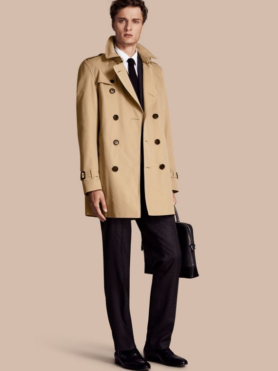 The Kensington – Mid-Length Heritage Trench Coat Honey