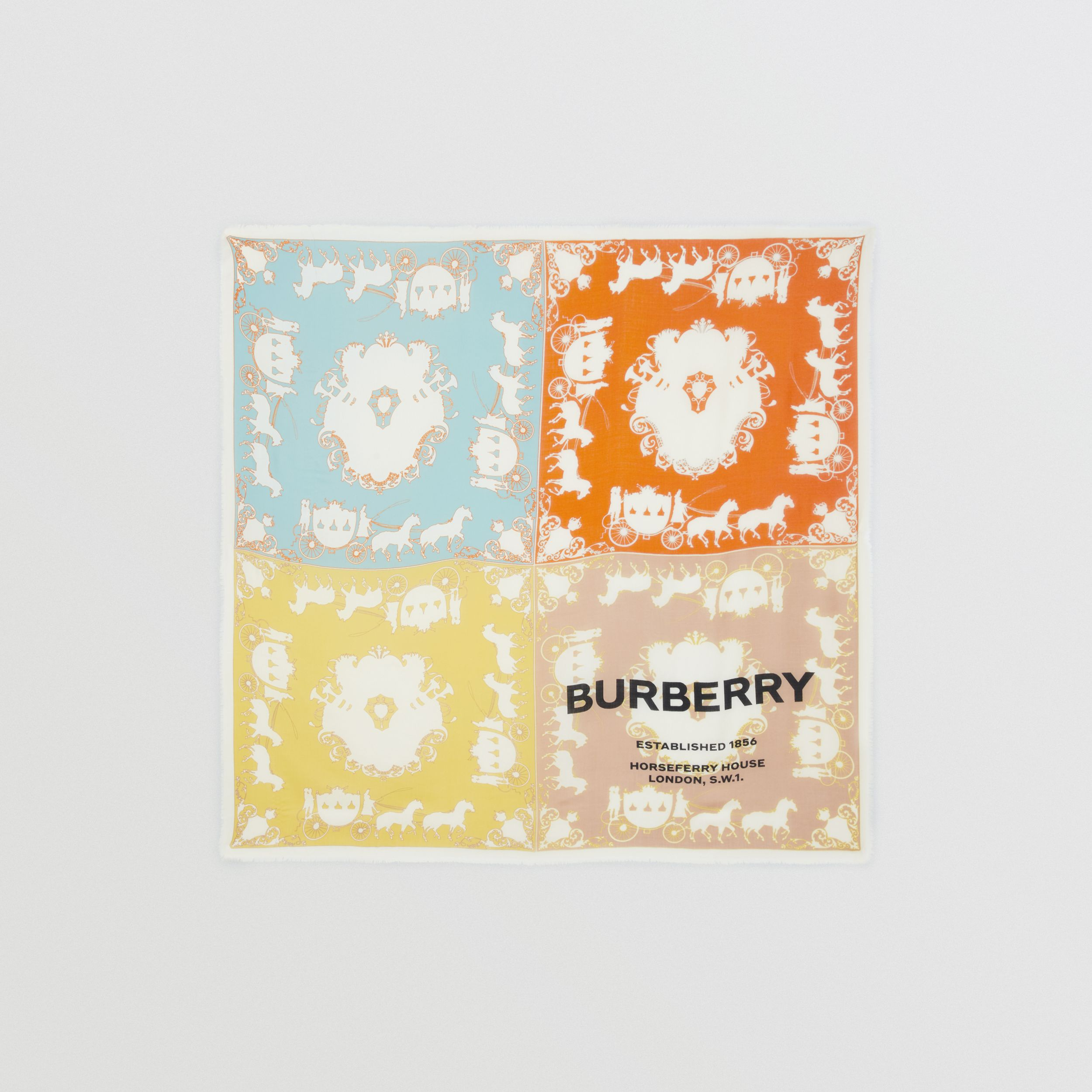Archive Scarf Print Cashmere Large Square Scarf in Multicolour - Men | Burberry - 1