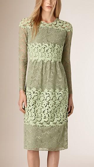Floral Lace and Macramé Dress