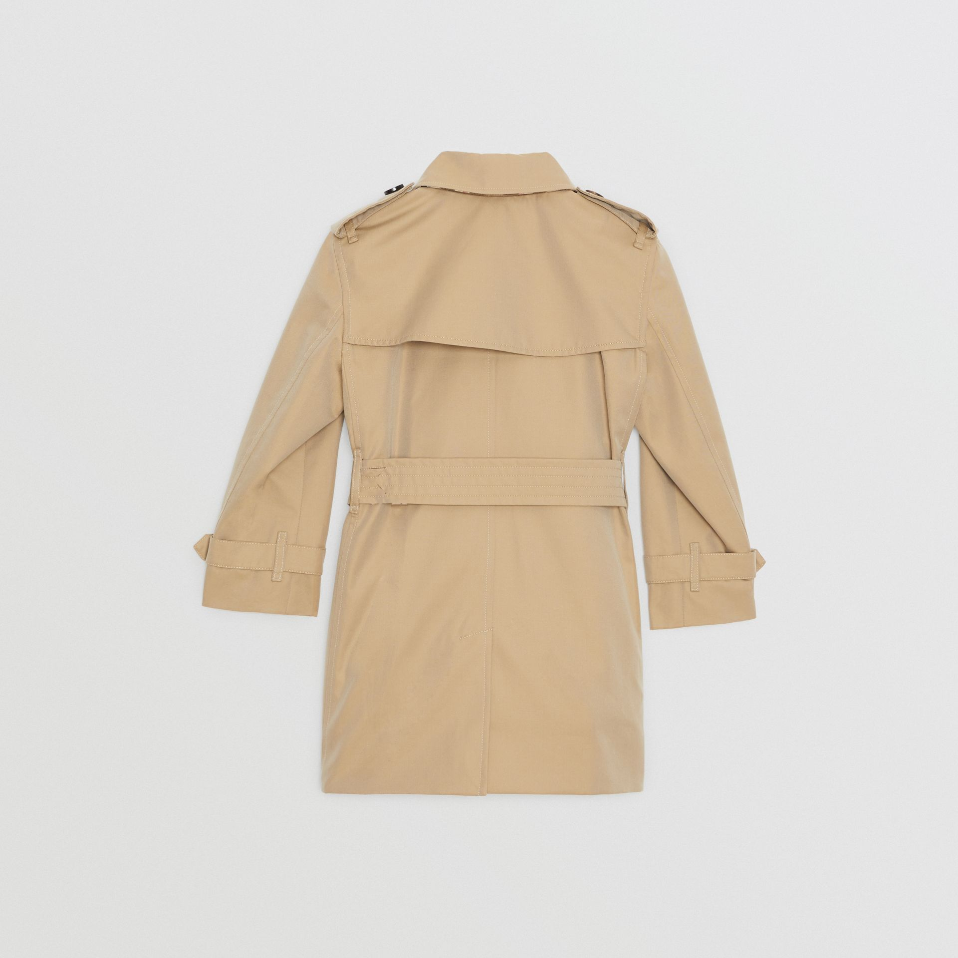 Cotton Gabardine Trench Coat in Honey | Burberry United Kingdom - gallery image 4