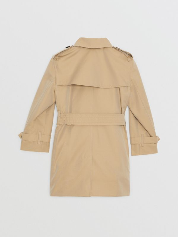 Cotton Gabardine Trench Coat in Honey | Burberry United States - cell image 3