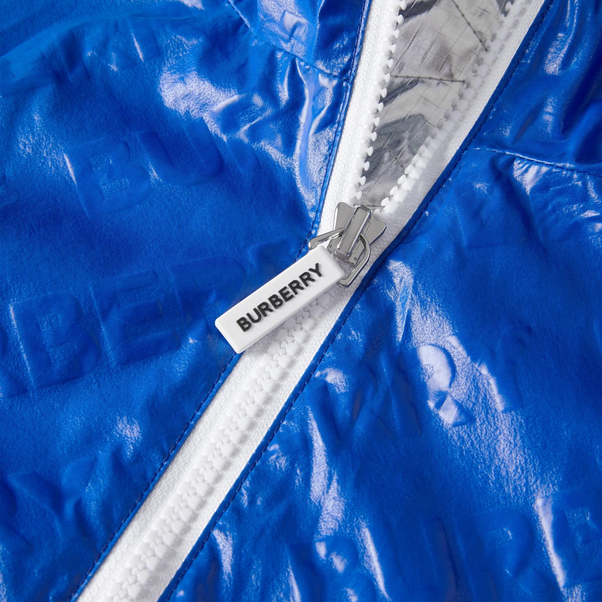 Logo Print Lightweight Hooded Jacket in Deep Cobalt | Burberry - gallery image 1
