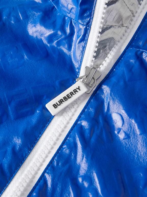 Logo Print Lightweight Hooded Jacket in Deep Cobalt | Burberry - cell image 1