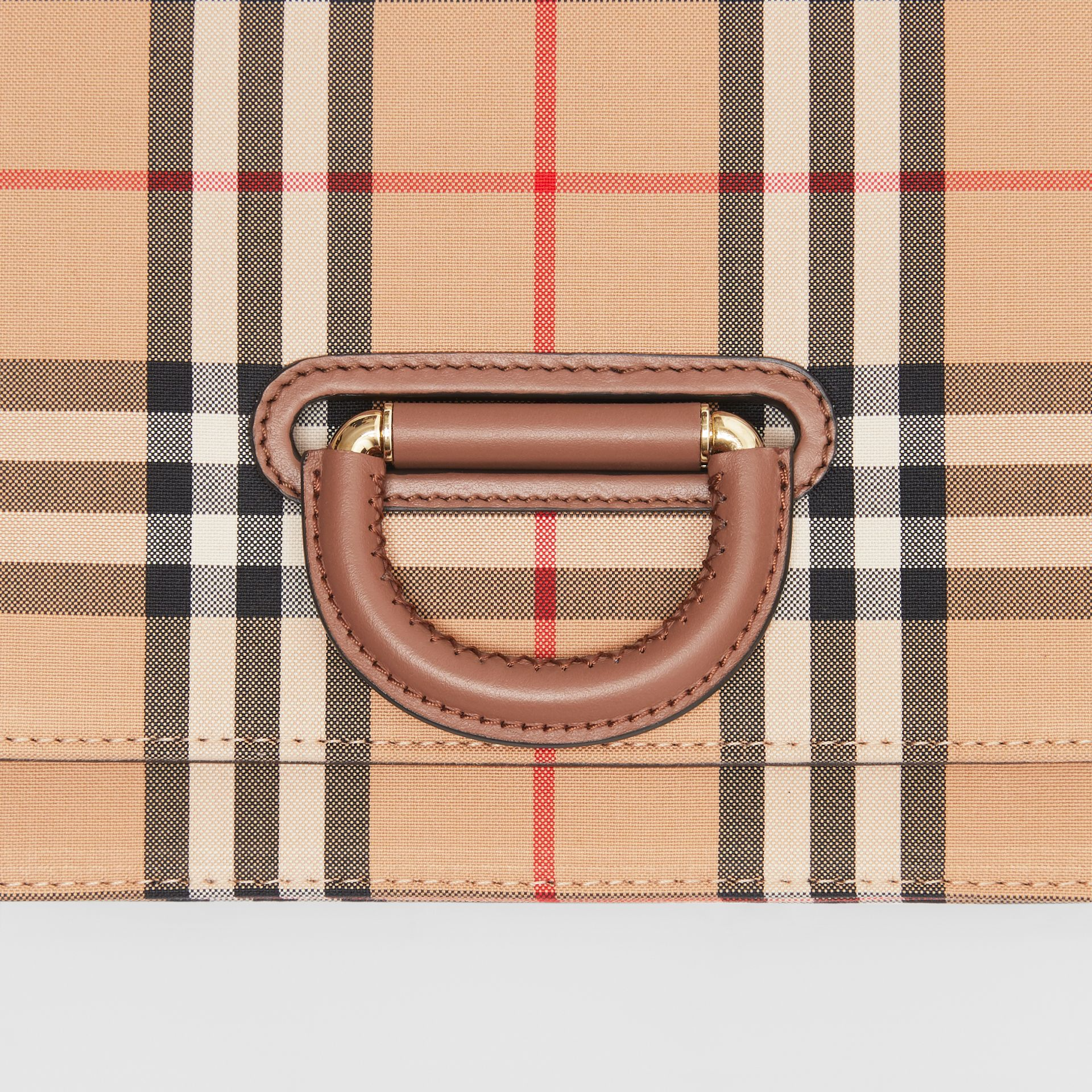 The Small Vintage Check D-ring Bag in Archive Beige - Women | Burberry Australia - gallery image 1