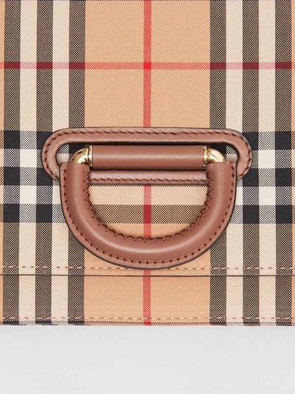 The Small Vintage Check D-ring Bag in Archive Beige - Women | Burberry United Kingdom - cell image 1