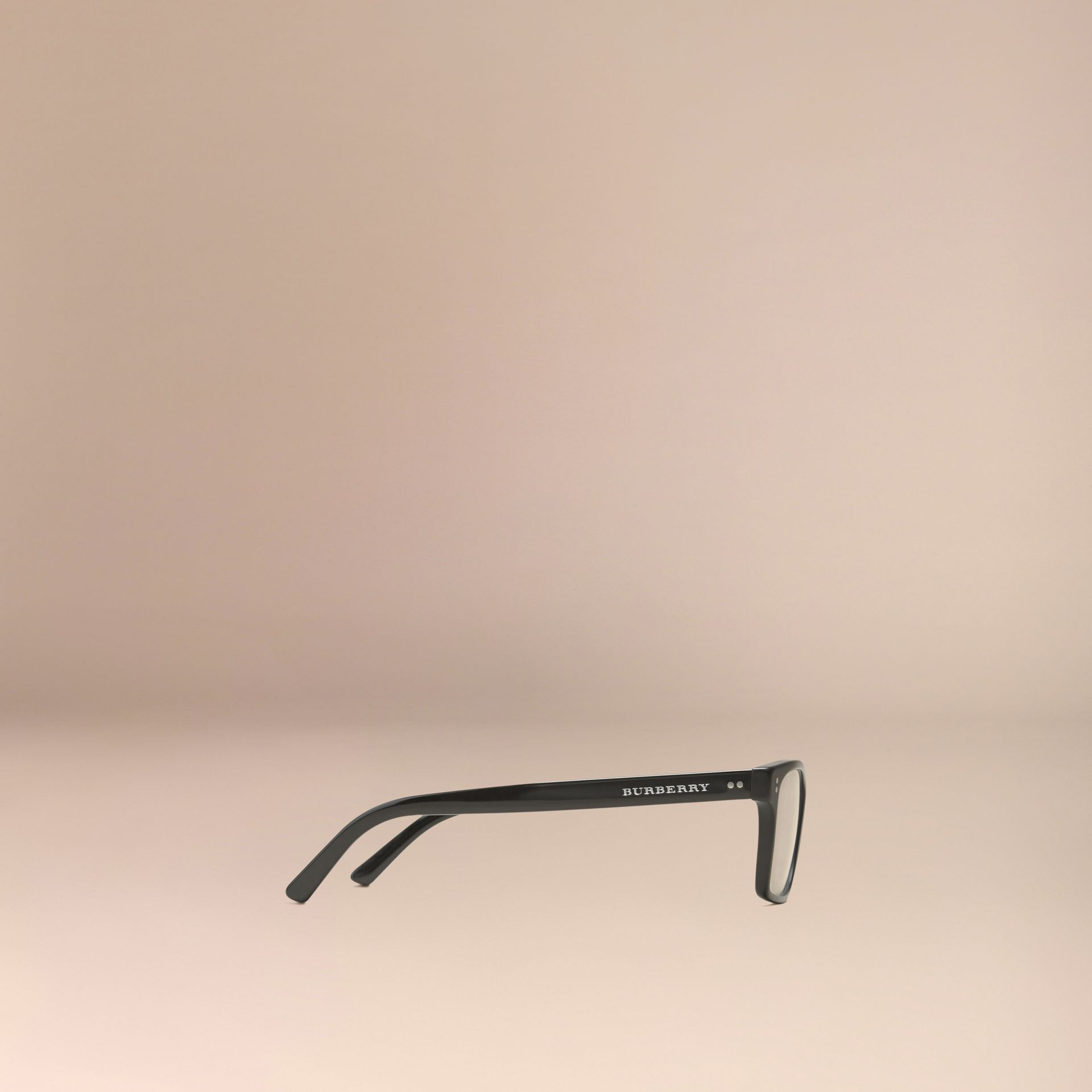 Black Rectangular Optical Frames Black - gallery image 5