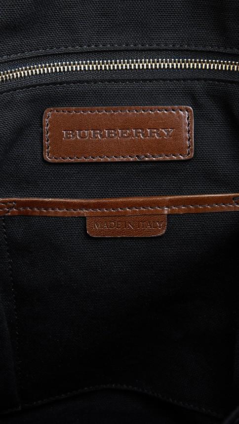 Dark tan House Check Baby Changing Tote Bag - Image 5