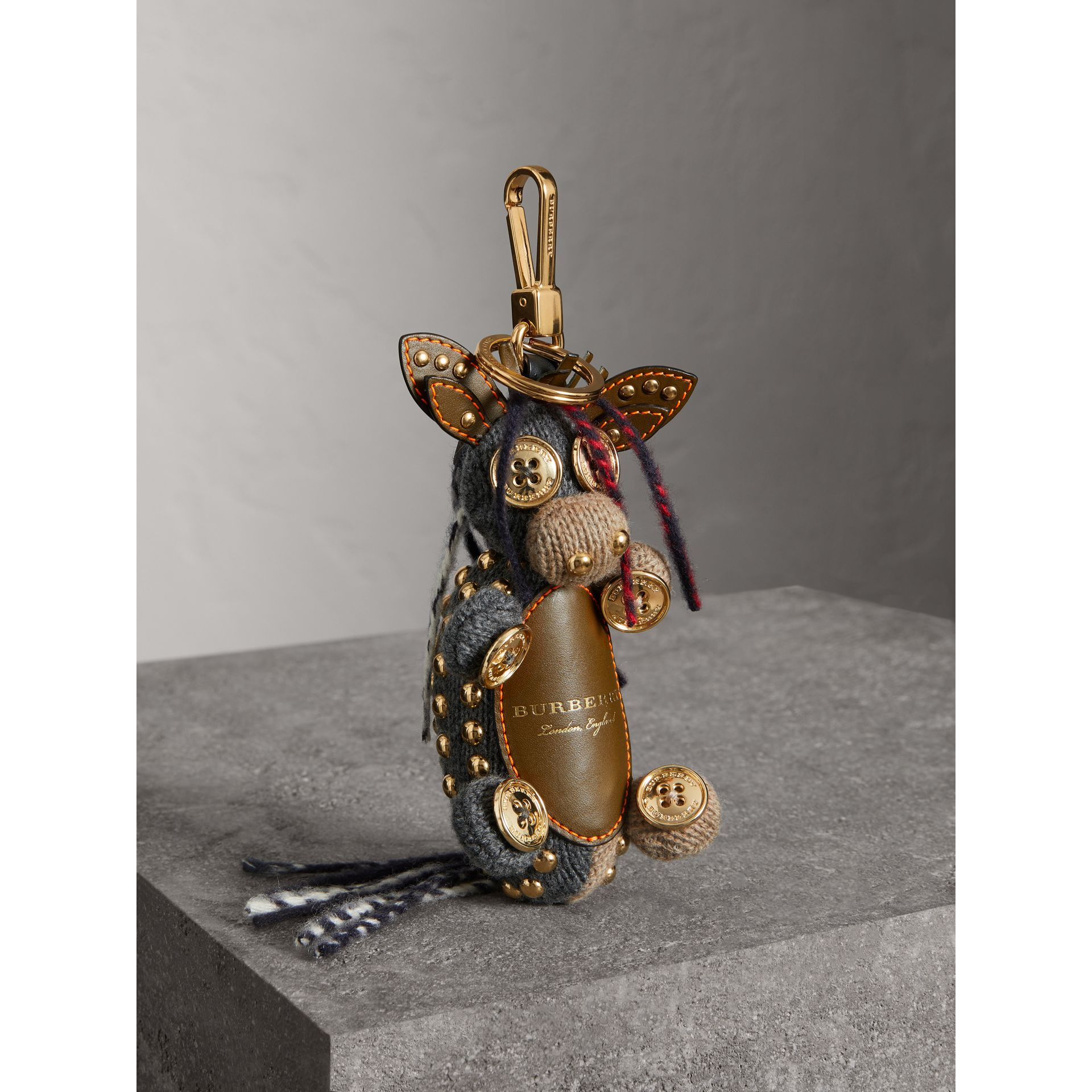 Mabel The Donkey Wool Charm in Sand Multicolour | Burberry - gallery image 0