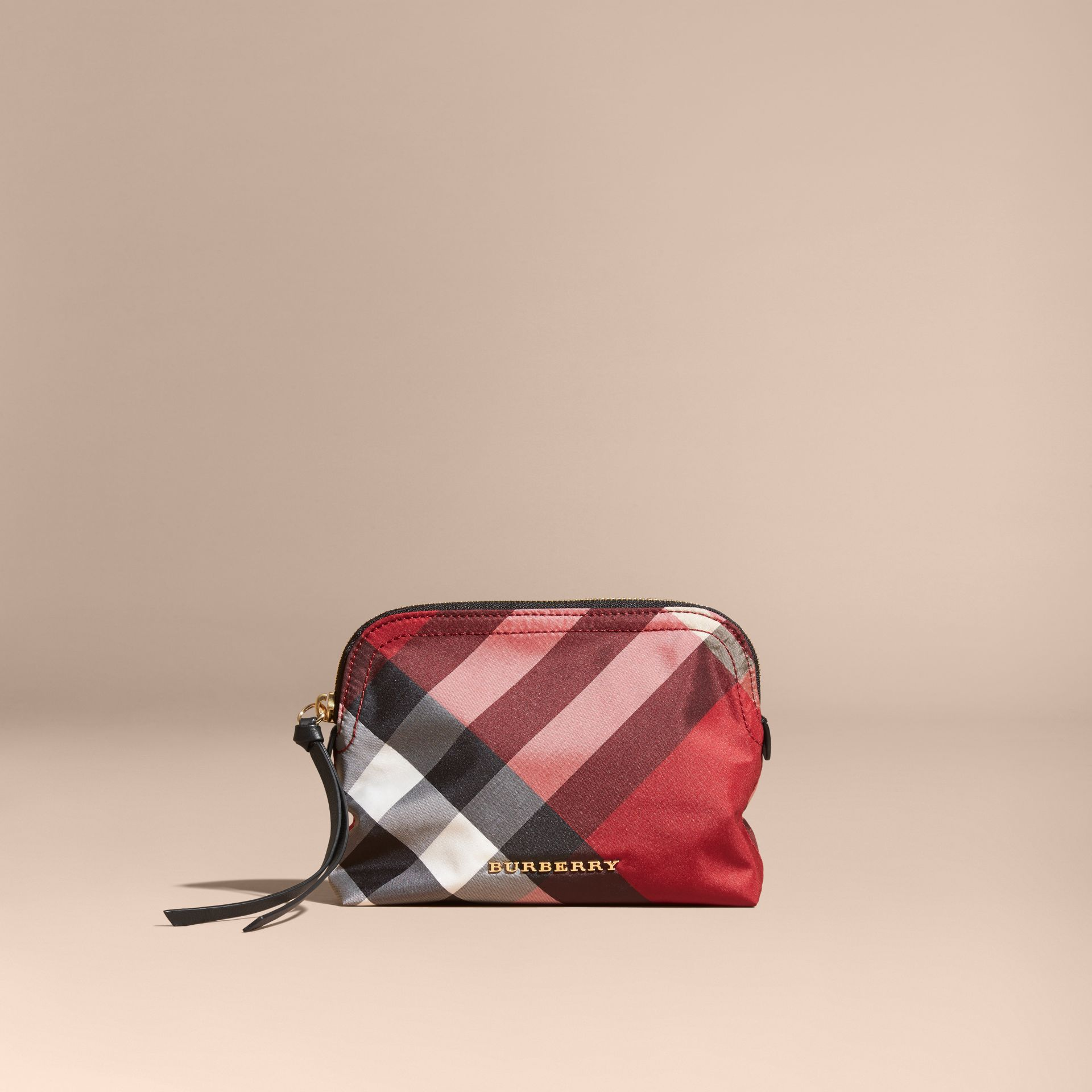 Medium Zip-top Check Technical Pouch Parade Red - gallery image 6