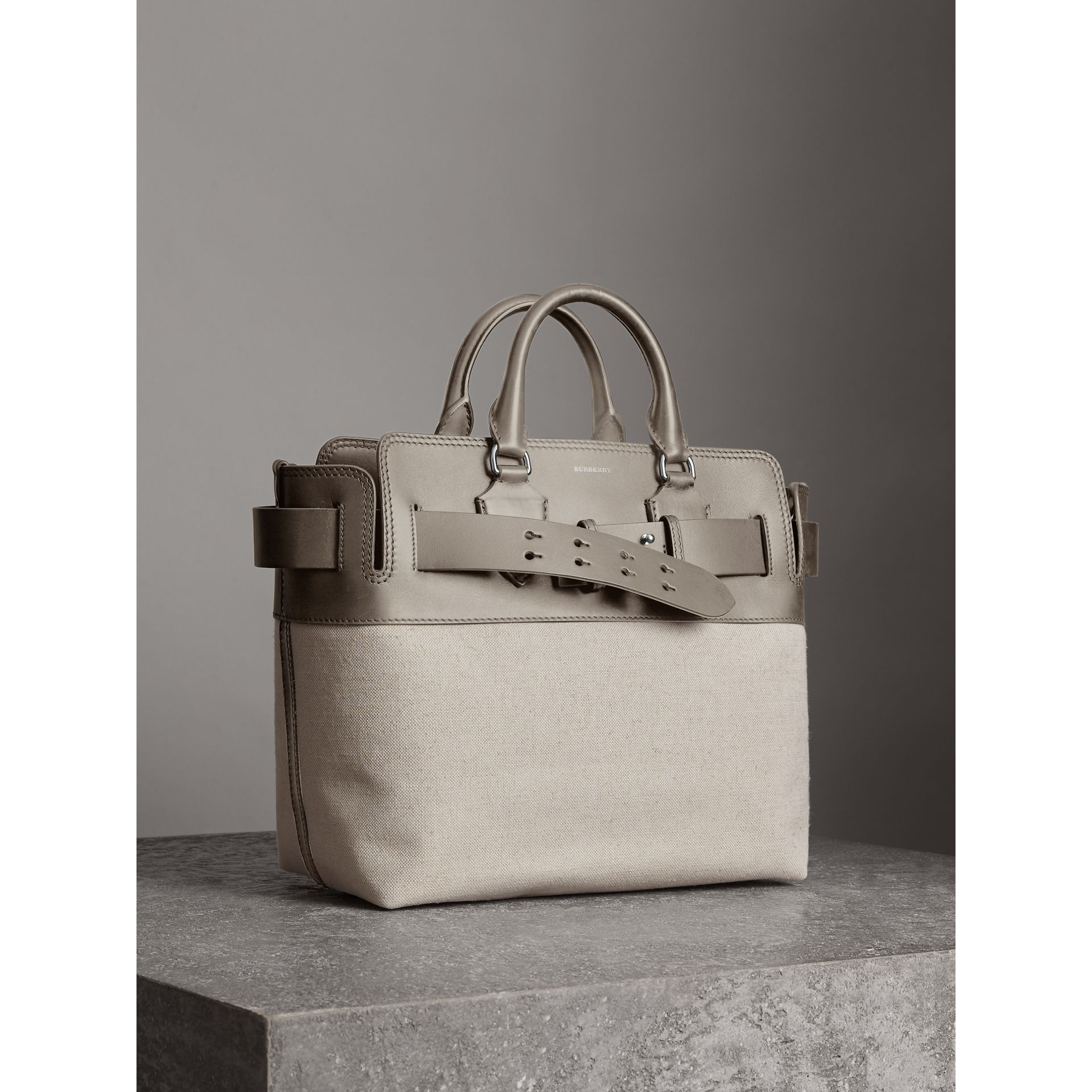The Medium Canvas and Leather Belt Bag in Grey/stone - Women | Burberry United States - gallery image 3