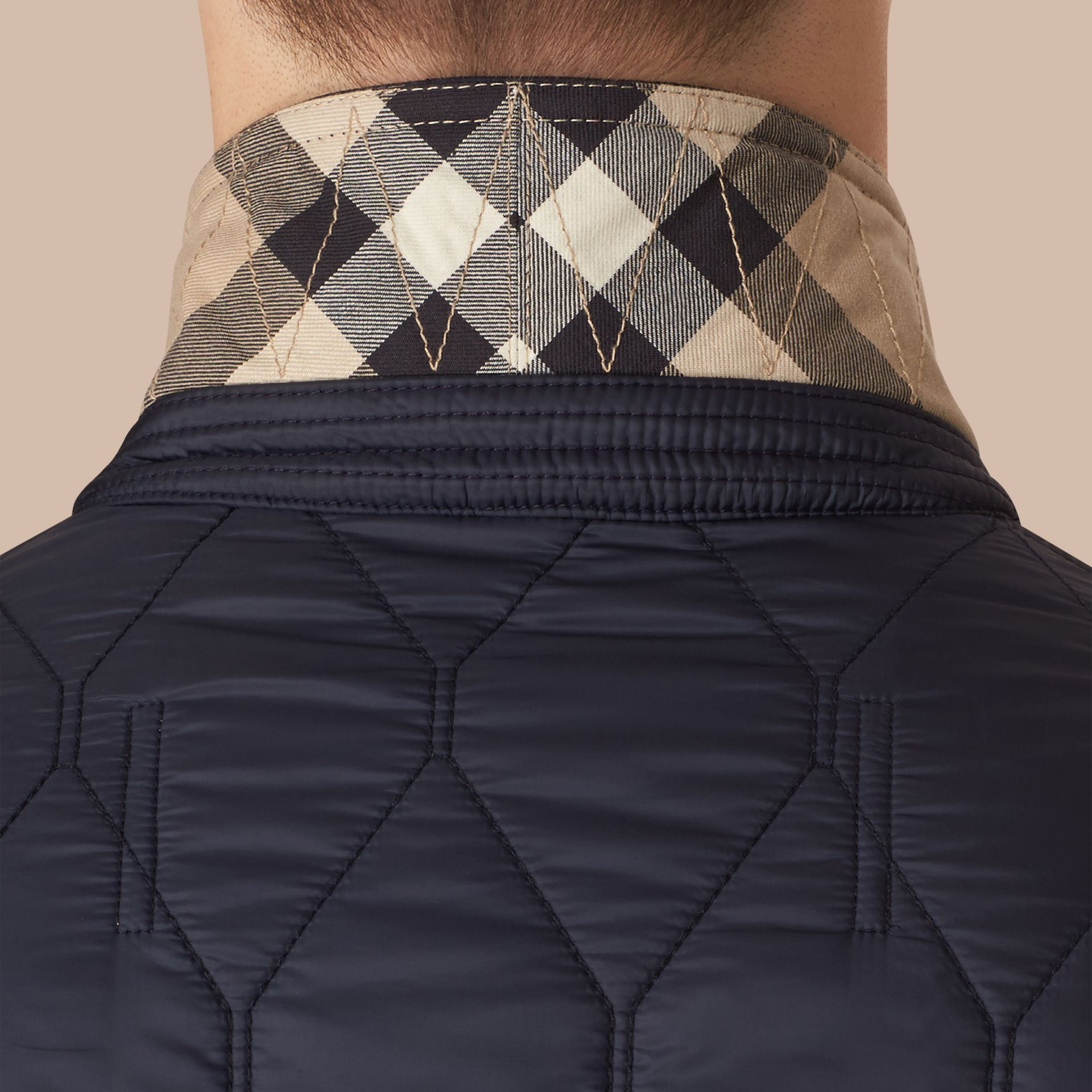Lambskin Trim Quilted Blazer - Men | Burberry - gallery image 5