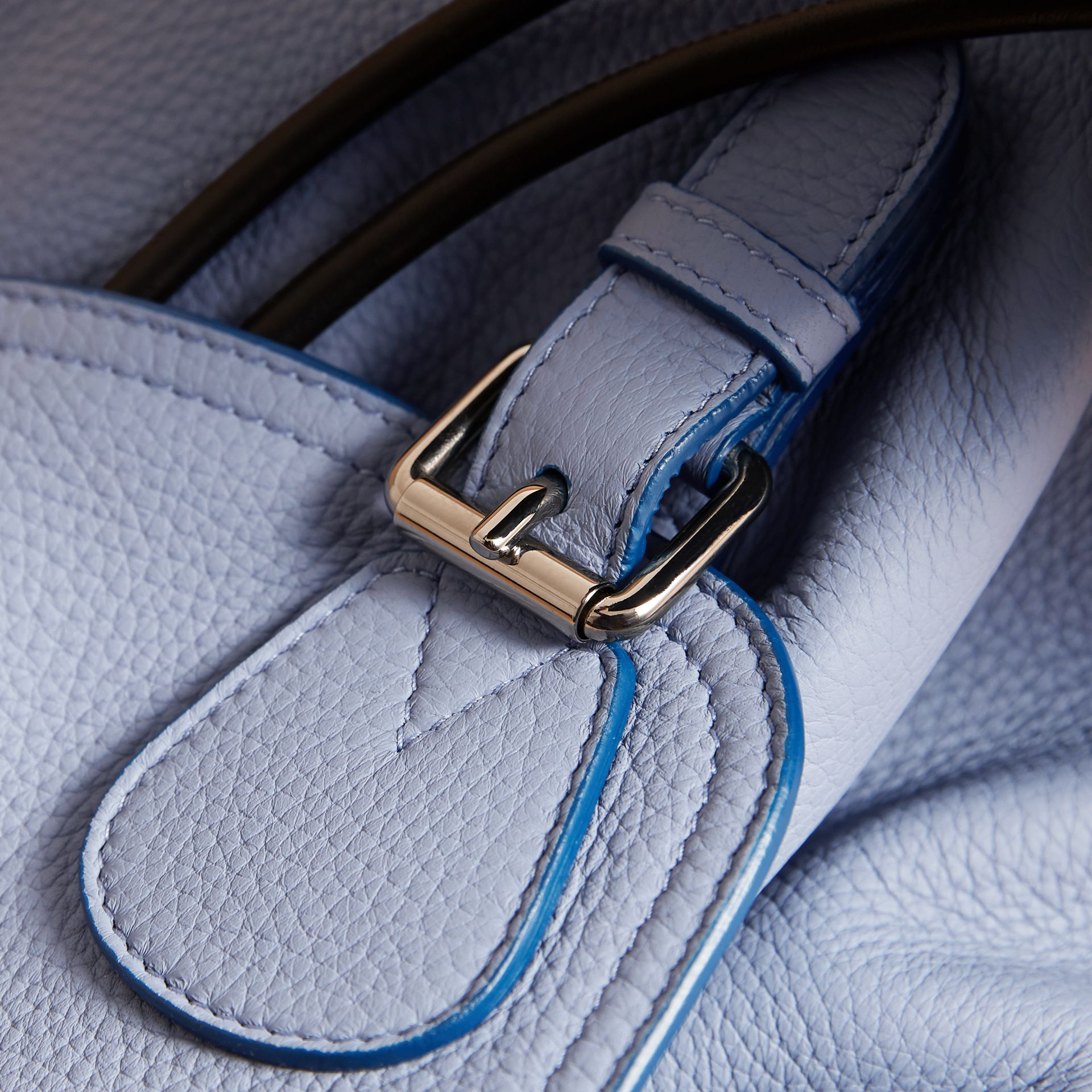 The Medium Rucksack in Deerskin with Resin Chain in Slate Blue - Women | Burberry - gallery image 2