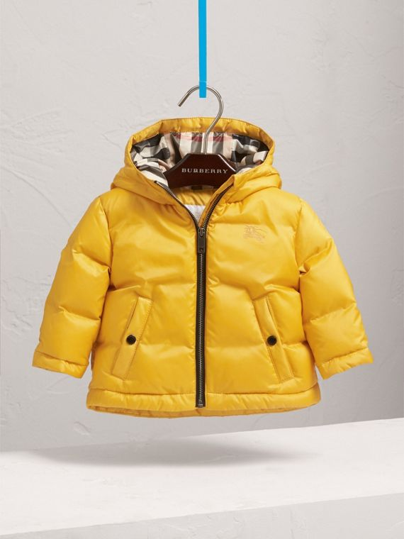 Down-filled Hooded Puffer Jacket in Larch Yellow | Burberry - cell image 2
