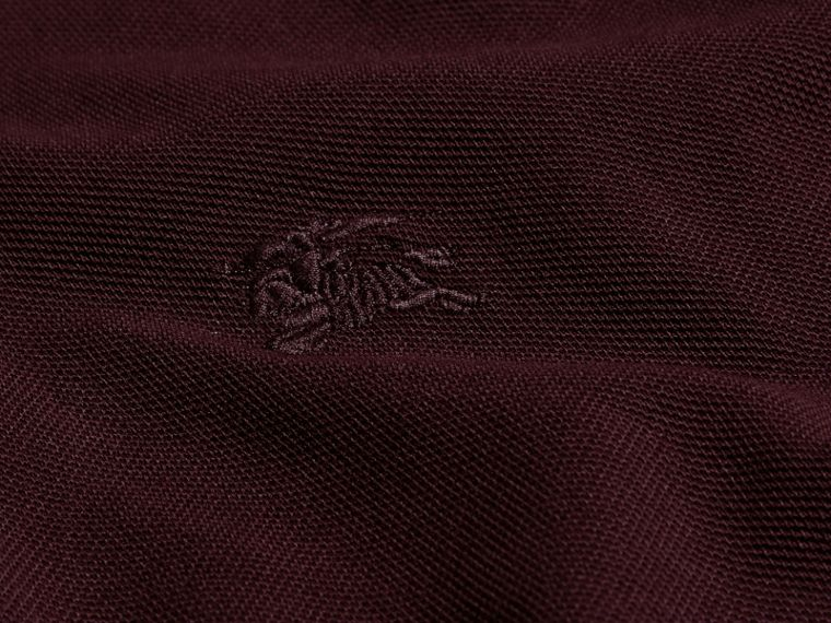 Deep claret Colour-block Cotton Piqué Polo Shirt Deep Claret - cell image 1