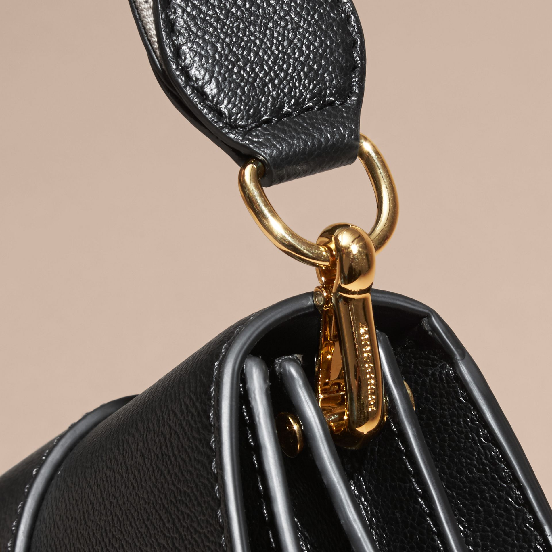 Black The Small Buckle Bag in Leather - gallery image 7