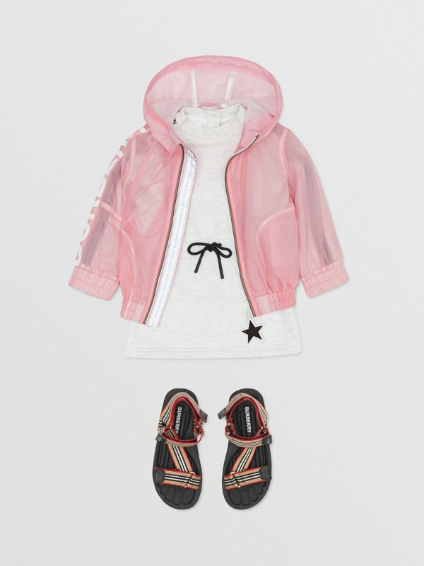 Star Detail Logo Print Lightweight Hooded Jacket in Candy Pink - Children | Burberry United Kingdom - cell image 2