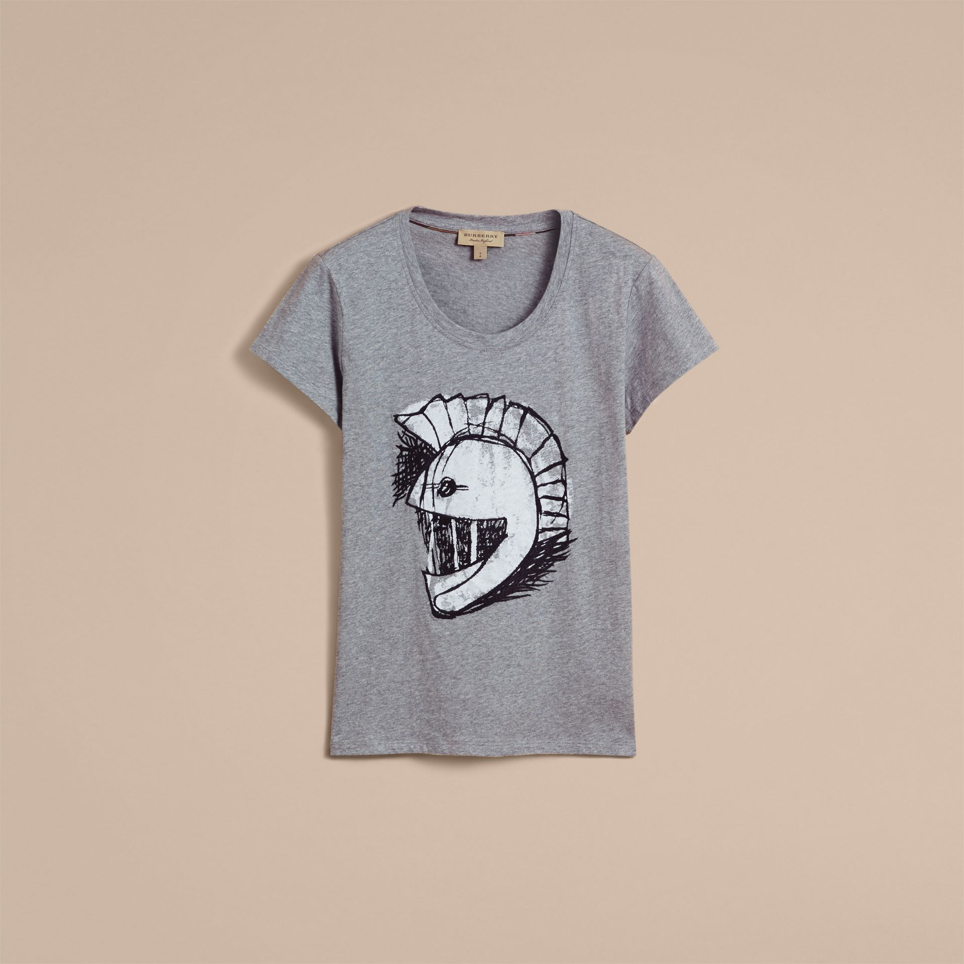 Pallas Helmet Motif Cotton T-shirt - Women | Burberry - gallery image 4