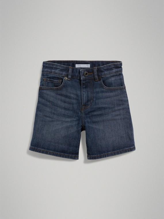 Leger geschnittene Shorts aus Stretchdenim (Mittelindigo) - Jungen | Burberry - cell image 2