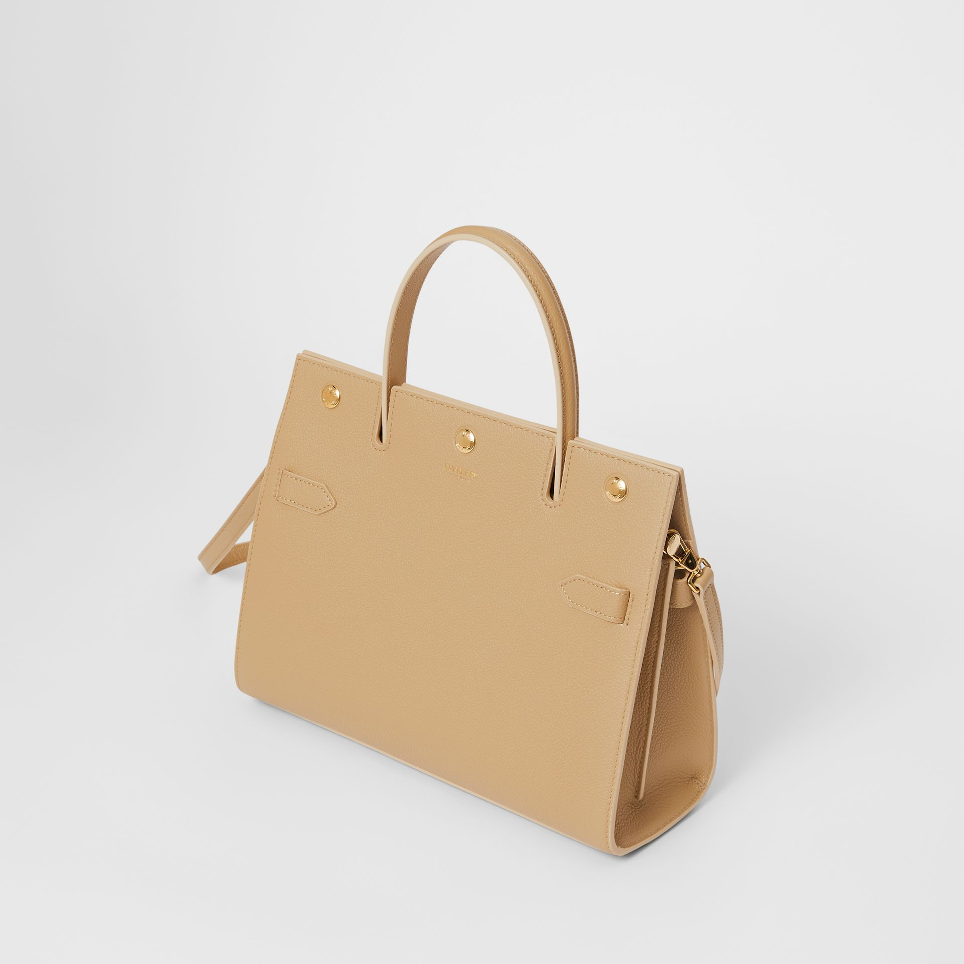 Small Leather Title Bag in Honey - Women | Burberry Australia - gallery image 3