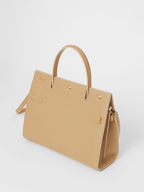 Small Leather Title Bag in Honey - Women | Burberry Australia - cell image 3