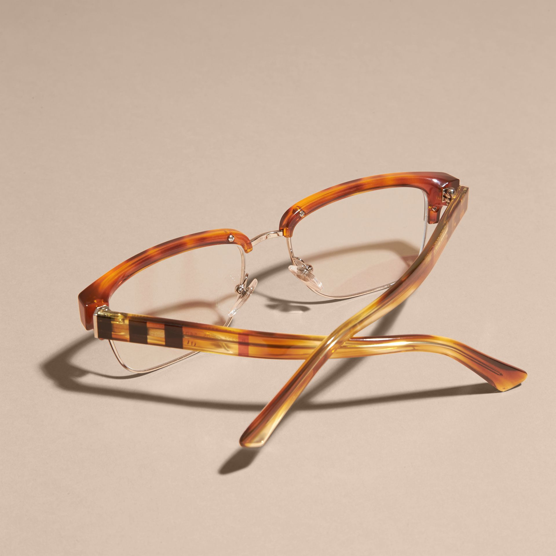 Light russet brown Half-rimmed Oval Optical Frames Light Russet Brown - gallery image 4