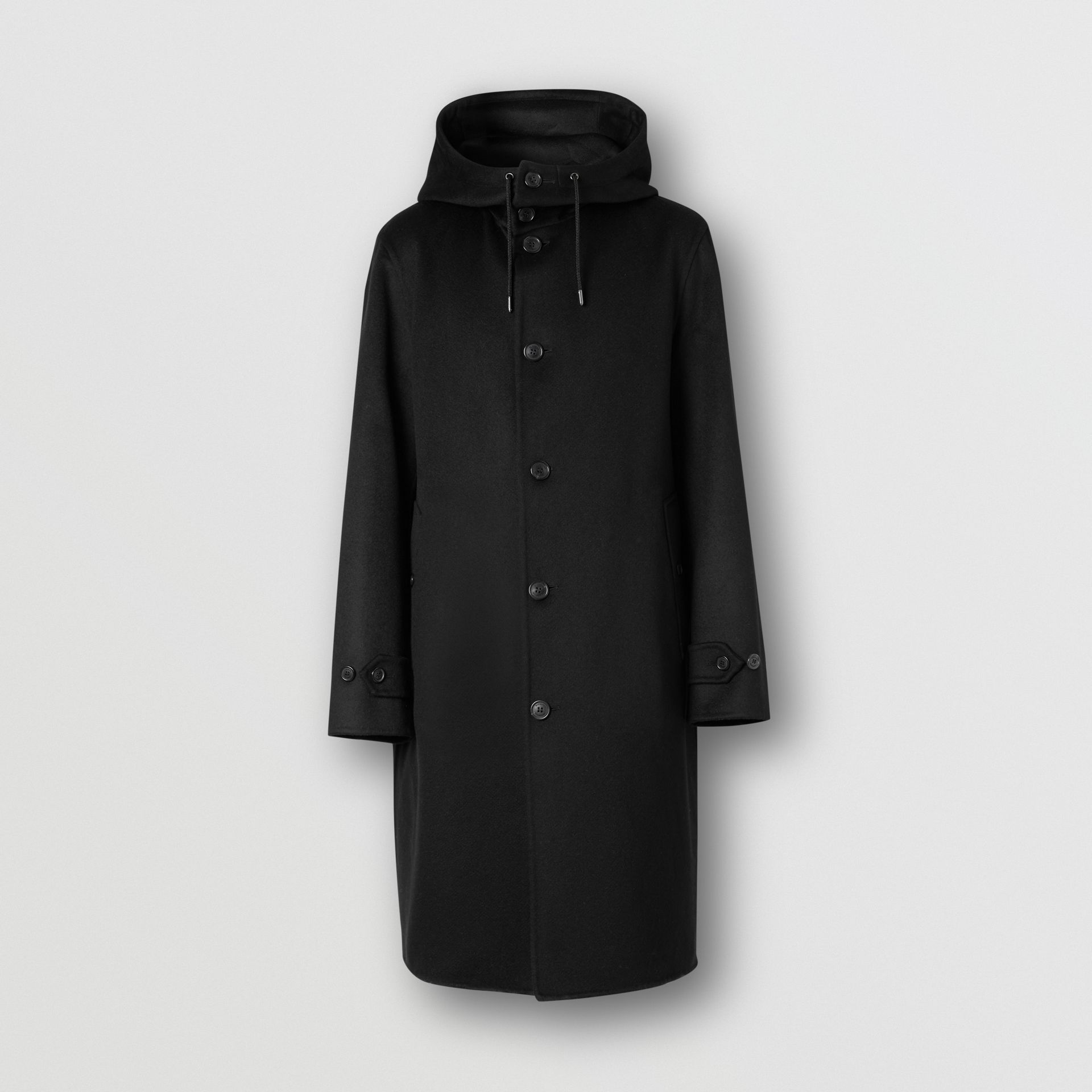 Double-faced Cashmere Hooded Coat in Black - Men | Burberry United Kingdom - gallery image 3