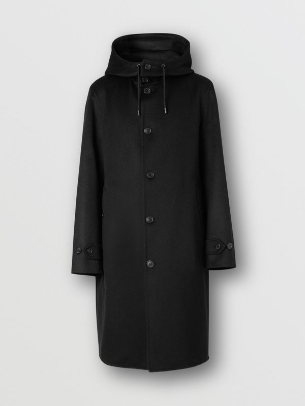 Double-faced Cashmere Hooded Coat in Black - Men | Burberry United Kingdom - cell image 3