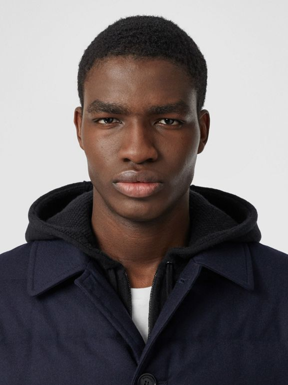 Car coat in lana con imbottitura (Navy) - Uomo | Burberry - cell image 1