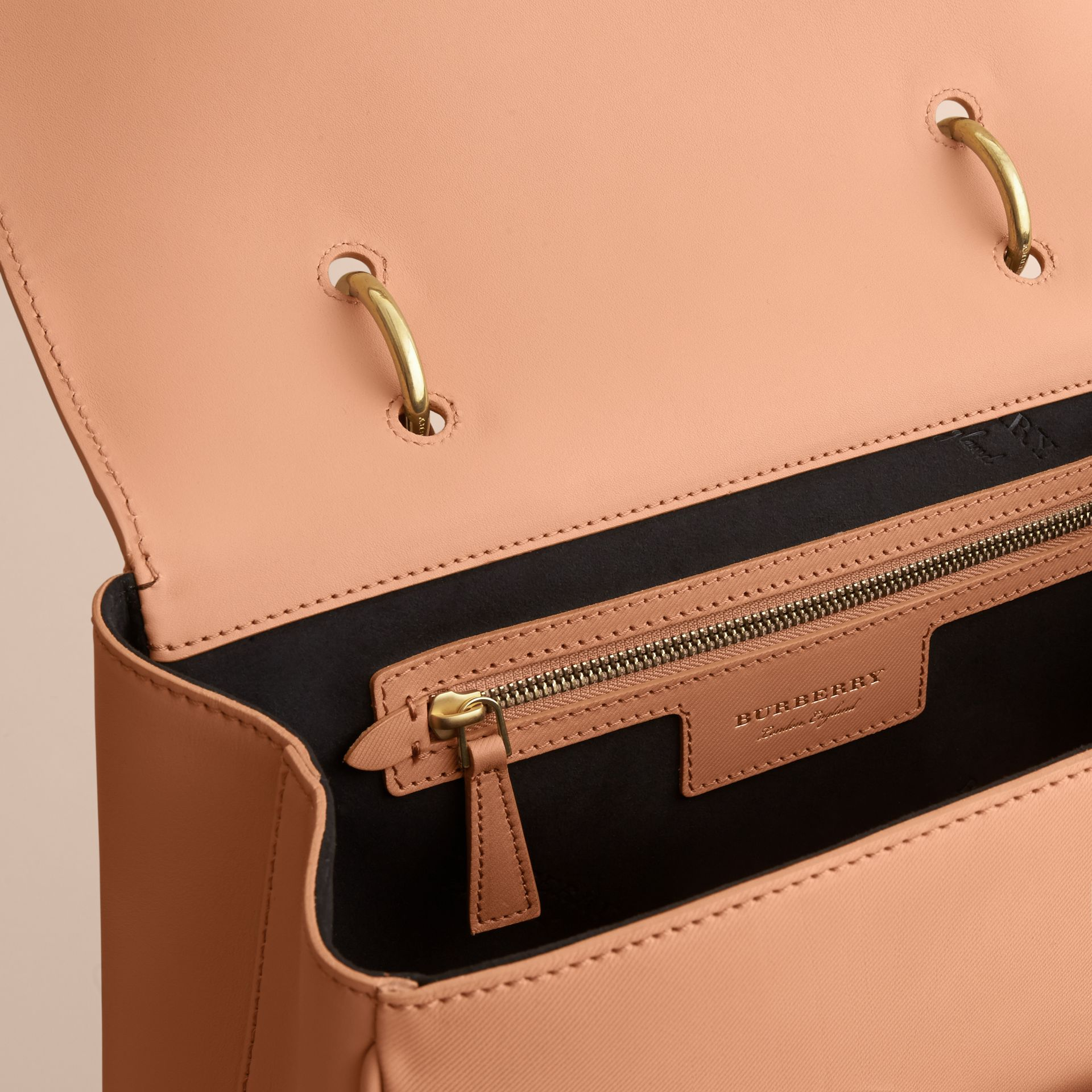 The Large DK88 Top Handle Bag in Pale Clementine - Women | Burberry Australia - gallery image 4