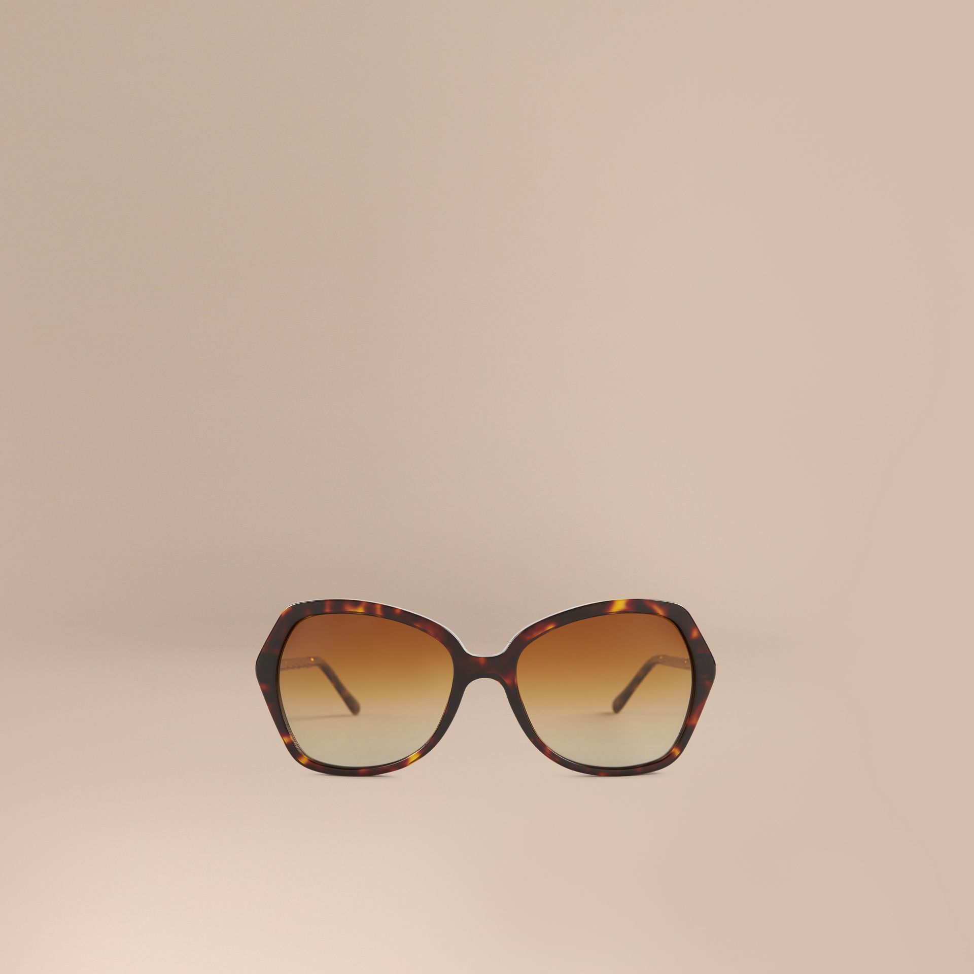 Tortoiseshell Gabardine Collection Oversize Square Frame Sunglasses Tortoiseshell - gallery image 2