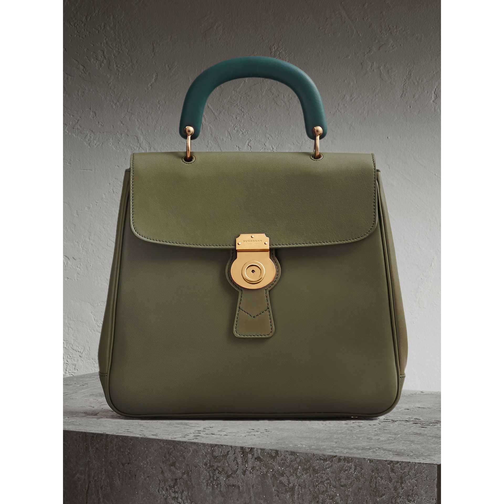 The Large DK88 Top Handle Bag in Moss Green - Women | Burberry - gallery image 0