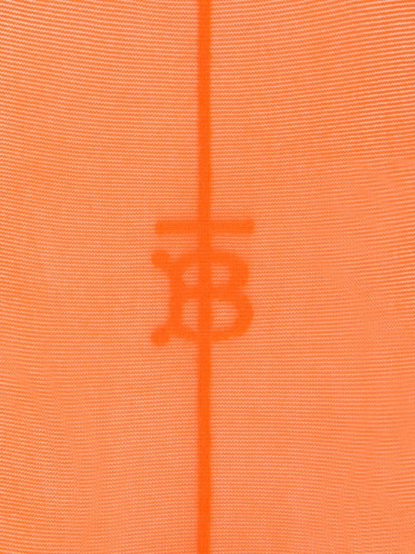 Monogram Motif Seamed Tights in Bright Orange - Women | Burberry Australia - cell image 3