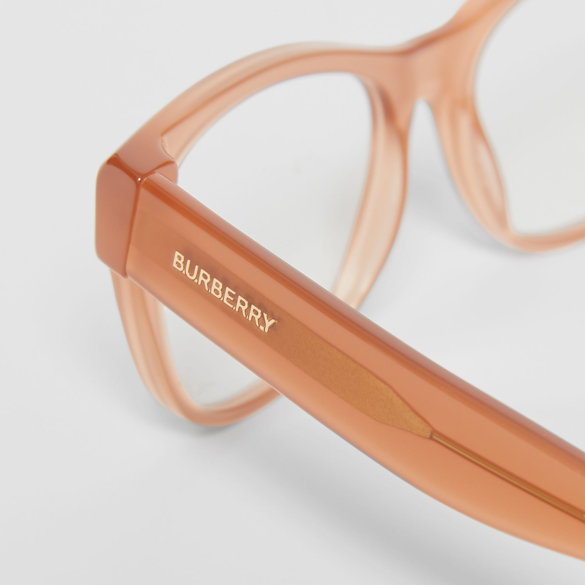 Square Optical Frames in Peach - Women | Burberry - gallery image 1