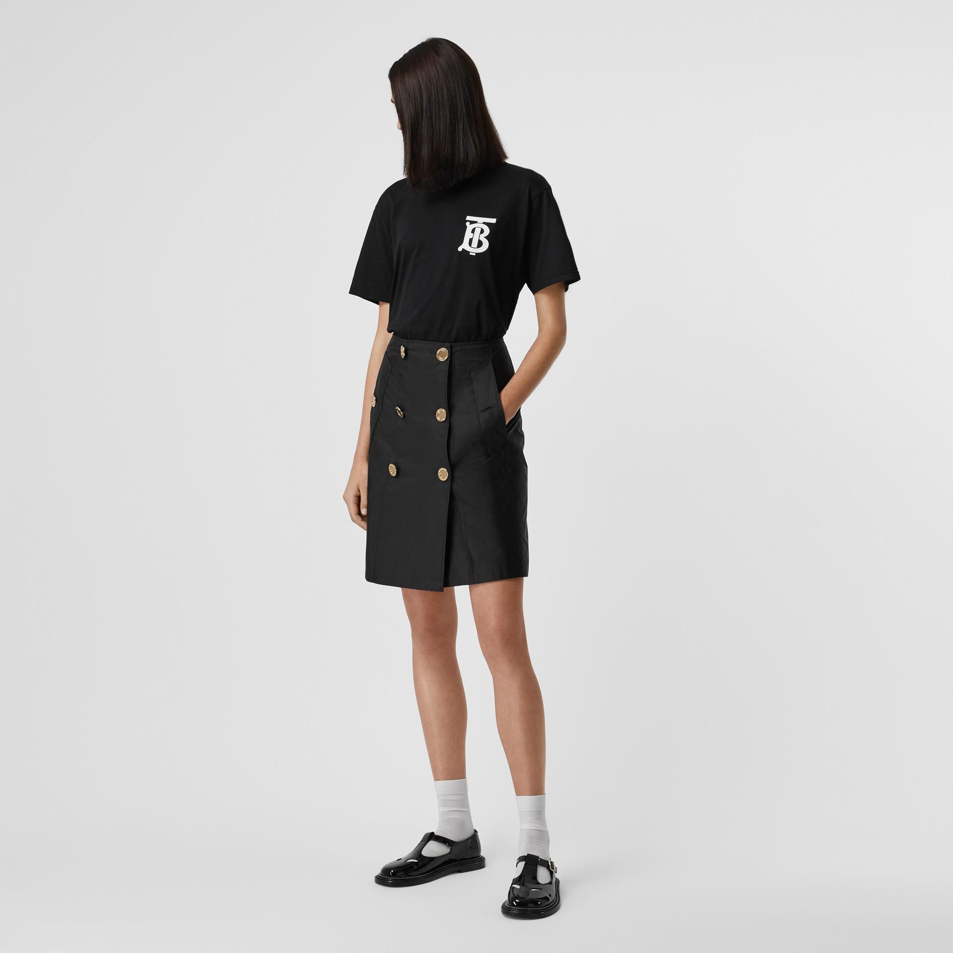 Nylon Trench Skirt in Black - Women | Burberry - gallery image 4