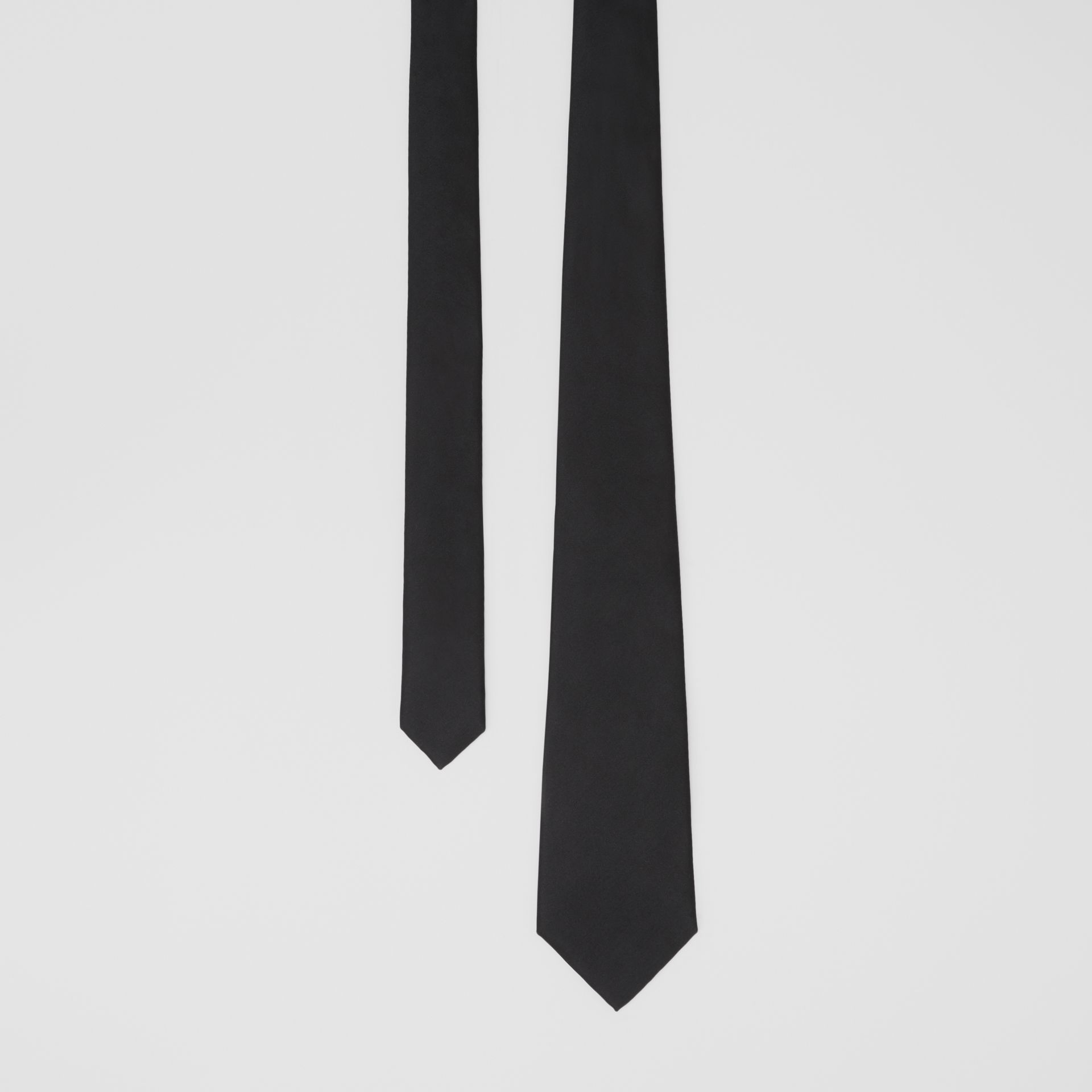 Classic Cut Silk Tie in Black | Burberry United States - gallery image 0