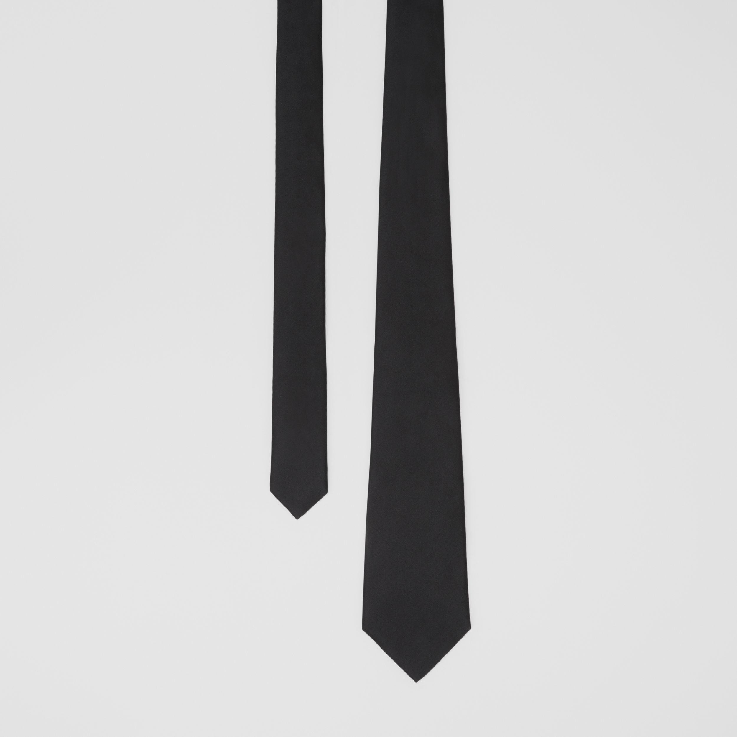 Classic Cut Silk Tie in Black - Men | Burberry - 1