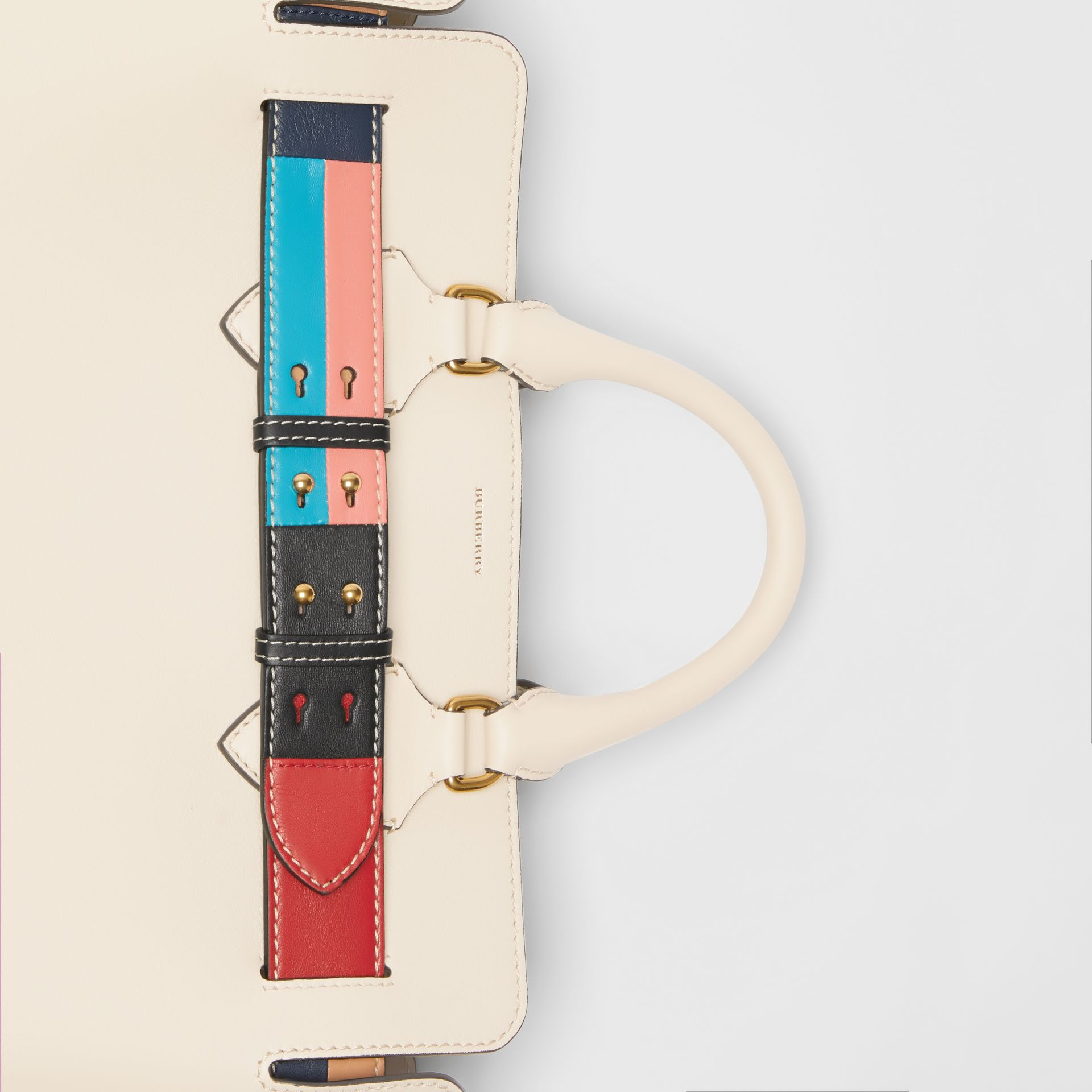 The Medium Leather Colour Block Detail Belt Bag in Limestone - Women | Burberry United Kingdom - gallery image 1