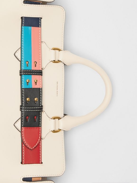 The Medium Leather Colour Block Detail Belt Bag in Limestone - Women | Burberry - cell image 1