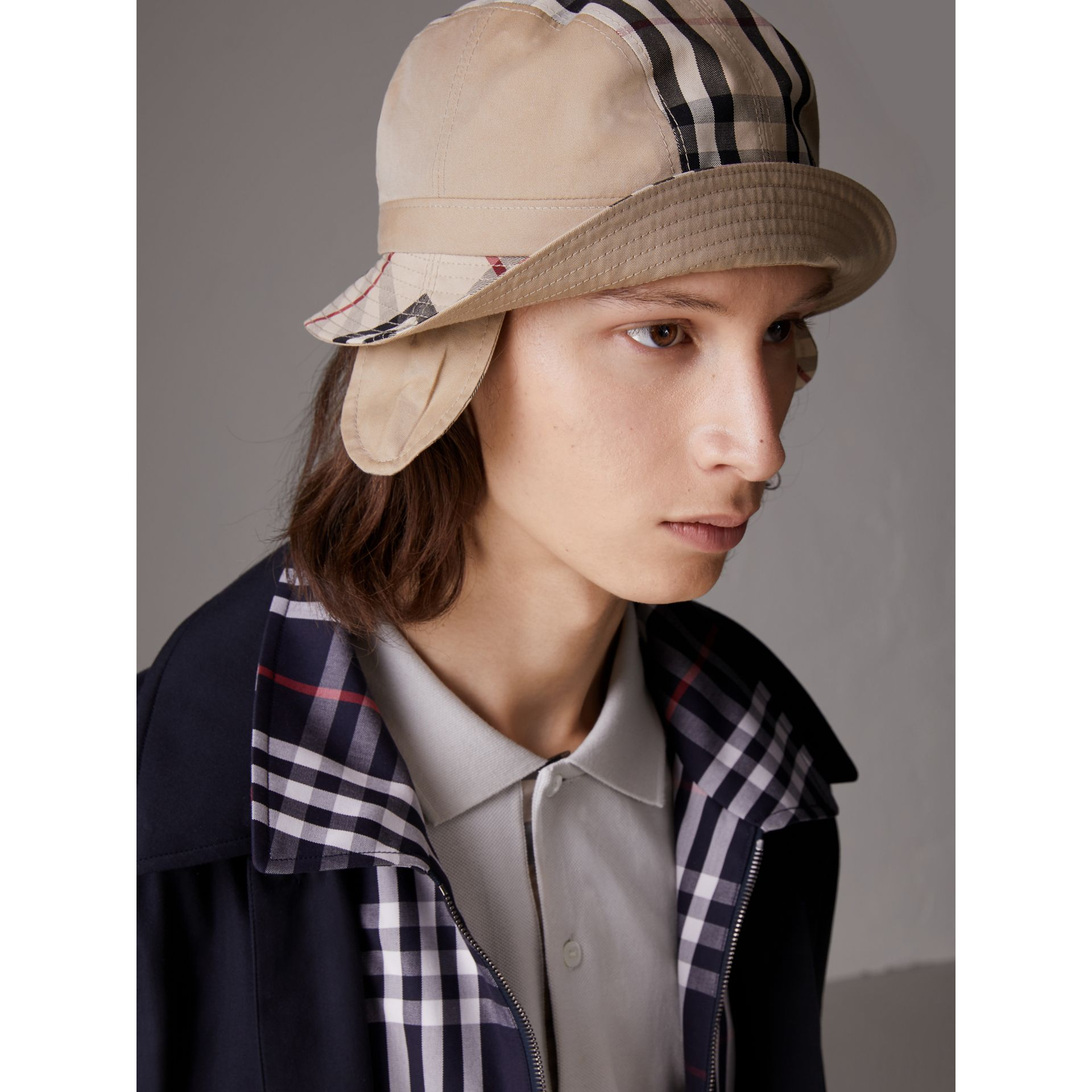 Gosha x Burberry Bucket Hat in Honey | Burberry - gallery image 3