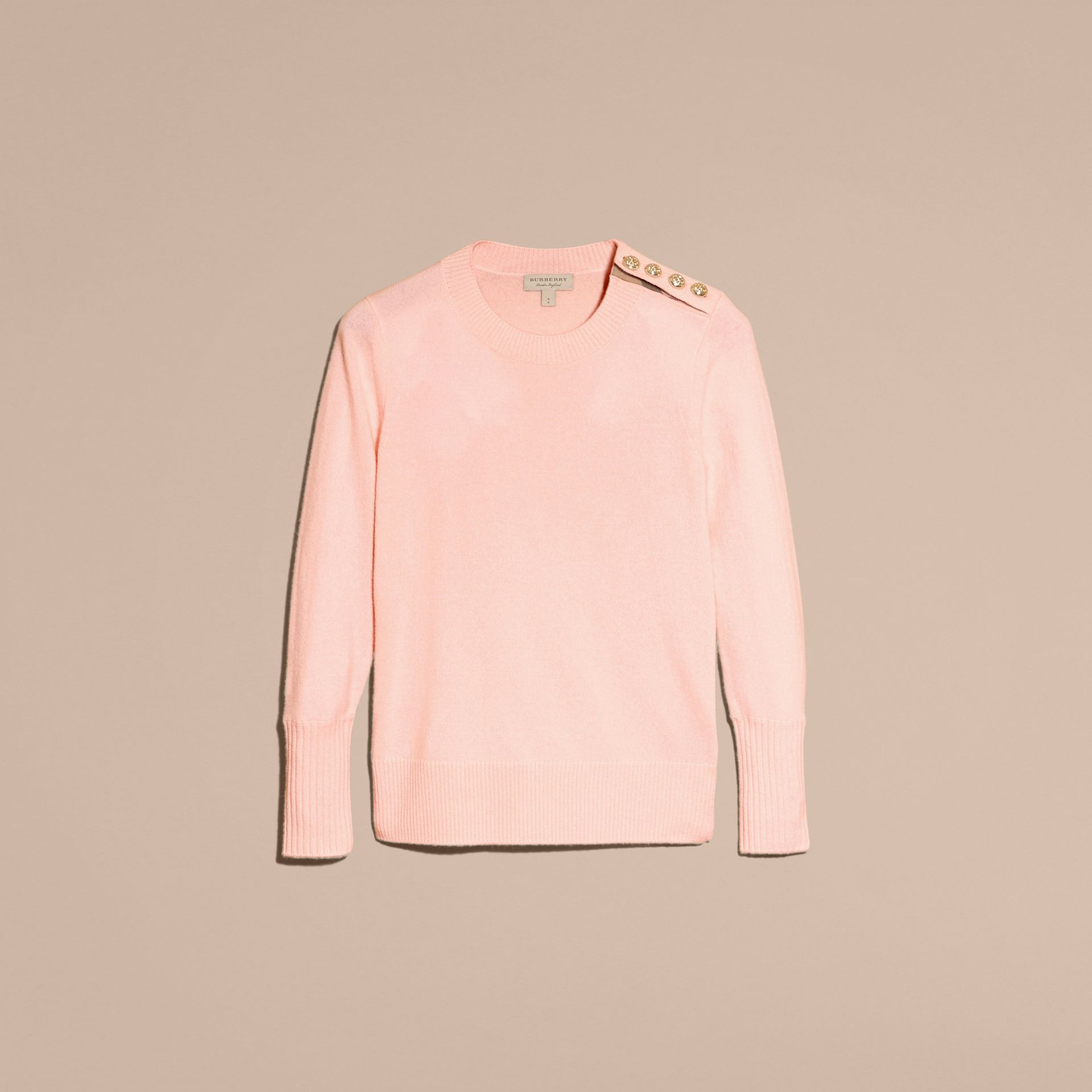 Blossom Cashmere Sweater with Crested Buttons Blossom - gallery image 4