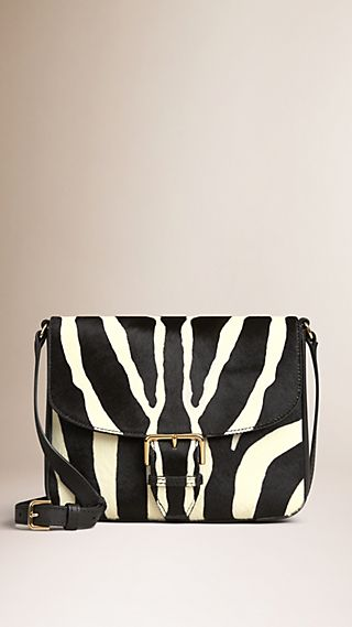 Small Animal Print Calfskin Crossbody Bag