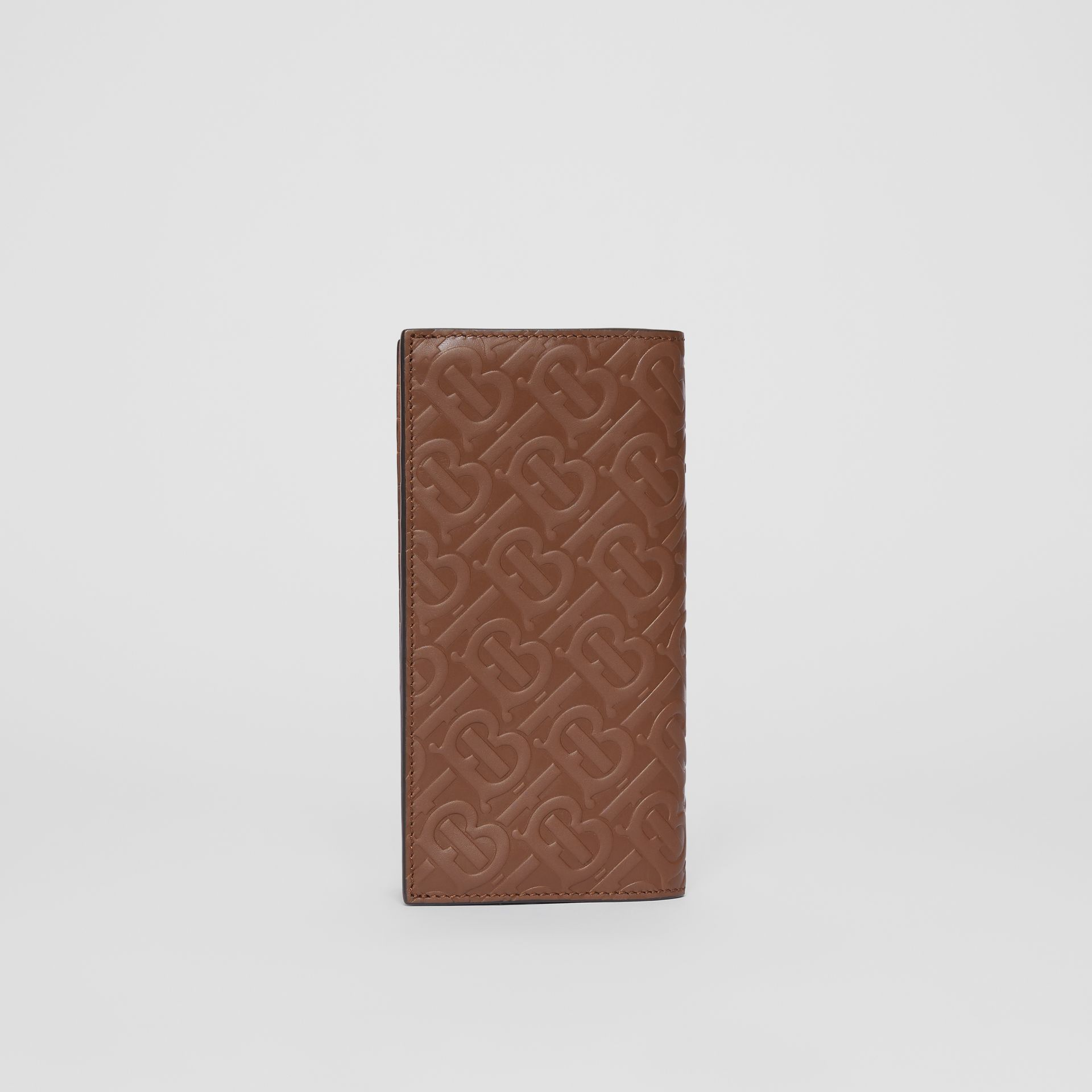 Monogram Leather Continental Wallet in Dark Tan - Men | Burberry - gallery image 5