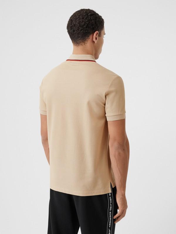 Monogram Motif Cotton Piqué Polo Shirt in Soft Fawn - Men | Burberry - cell image 2