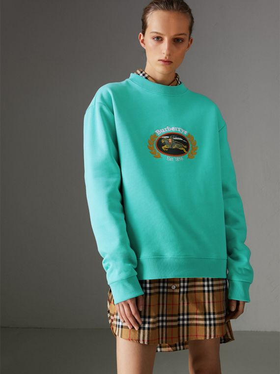 Reissued Jersey Sweatshirt in Aqua